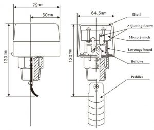 HFS FLOW SWITCH Dimensions