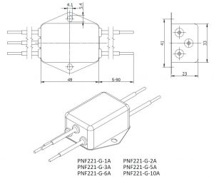 PNF221 DIMENSIONS
